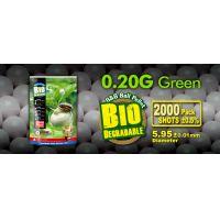 GG Bio BB, airsoft lövedék 0.20g BB zöld 2000r
