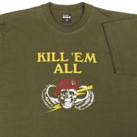 Olive katonai poló XL-es méret  Kill'Em all