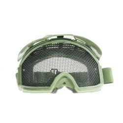 Rácsos maszk, napellenzővel, zöld