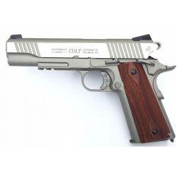Colt M1911 Matt ezüst GBB airsoft pisztoly