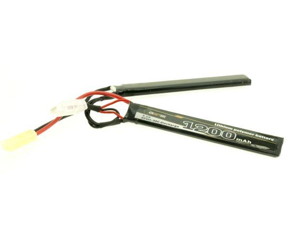 Airsoftone OP-1200/30/2S 7.4V LiPo akku (1+1)