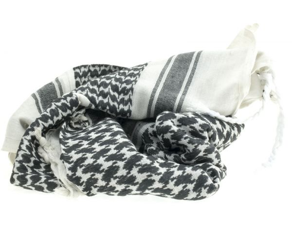 Arab kendő, Shemagh, fehér-fekete