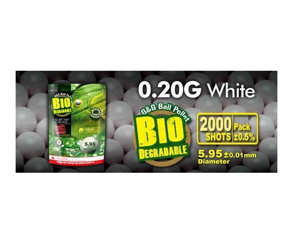 GG Bio BB 0,20 2000 fehér airsoft lövedék