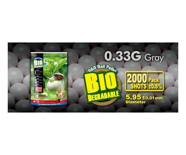GG Bio BB 0.33g 2000r szürke airsoft lövedék