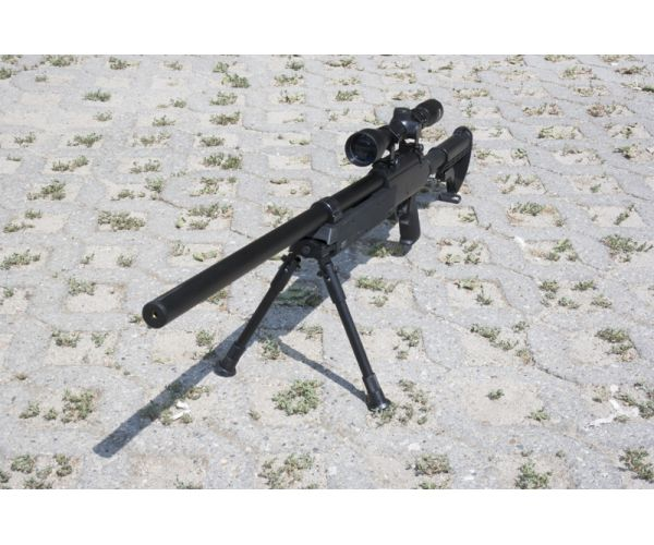 MB13D sniper replika, optikával, bipoddal