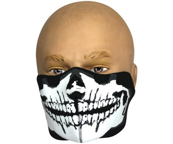 Neoprén maszk, koponya, fél pofa