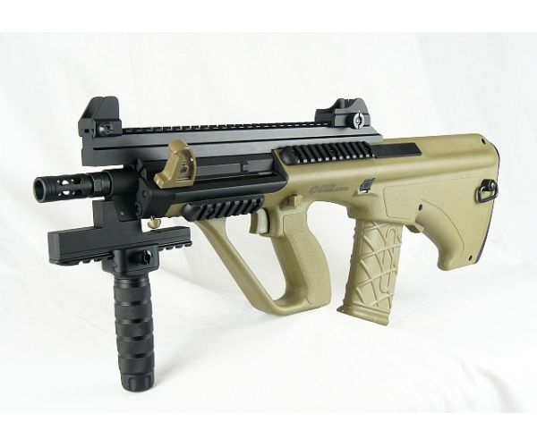 Steyr AUG A3 XS Commando airsoft AEG - Tan