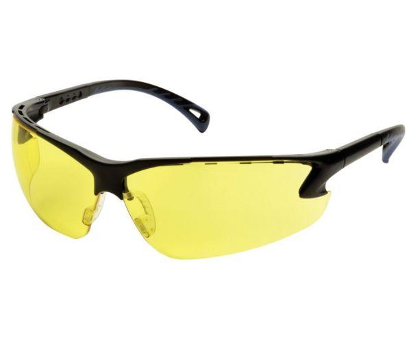Védőszemüveg, állítható, sárga lencsével
