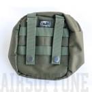 Öv tároló táska, kis méretű, zöld, Molle