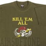 Olive katonai polót XL-es méret Kill'Em all